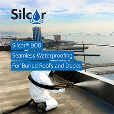 Silcor 900 seamless waterproofing for buried roofs and decks