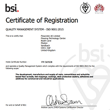 BSI Quality Management System - ISO 9001:2015 Certification
