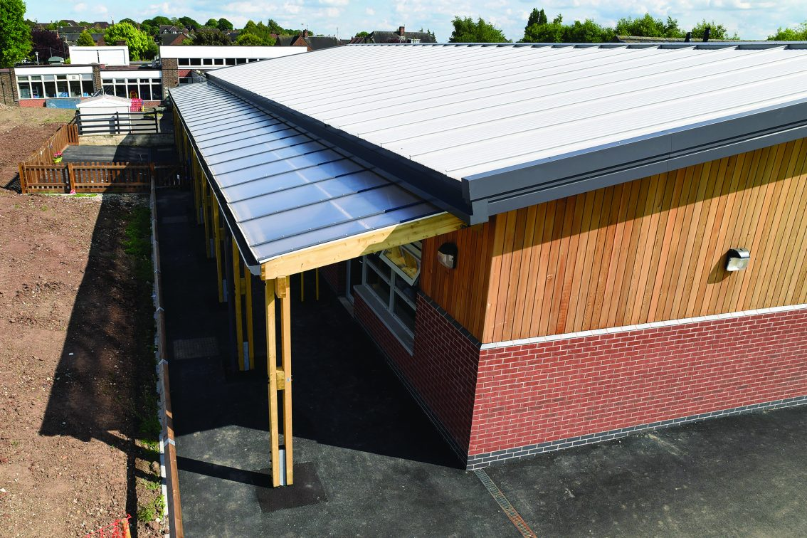 Timber frame walkway for Fernwood Primary School