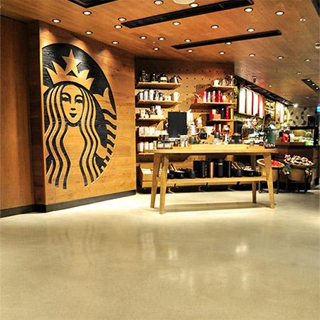 Vibrant Flowcrete Resin Terrazzo Floor At Starbucks
