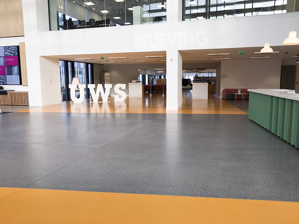 Flowcrete give a flooring lesson at University of the West of Scotland