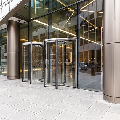 Full Vision Revolving Doors Bauporte Doors Uk