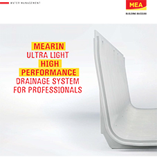 MEARIN ULTRA LIGHT: High performance drainage systems