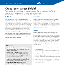 Grace Ice & Water Shield product data