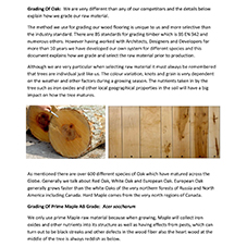 Grading of Wood Flooring