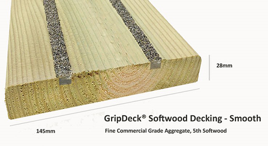 Softwood Anti-Slip Decking