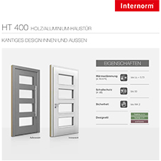 HT400 Timber & Aluminium Entrance Door