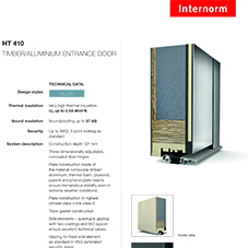 HT410 Timber & Aluminium Entrance Door