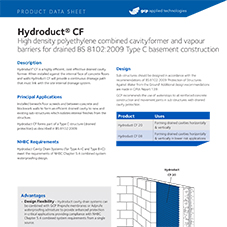 Hydroduct CF product data
