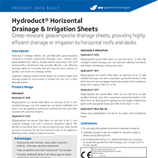 Hydroduct Horizontal Drainage & Irrigation Sheets product data