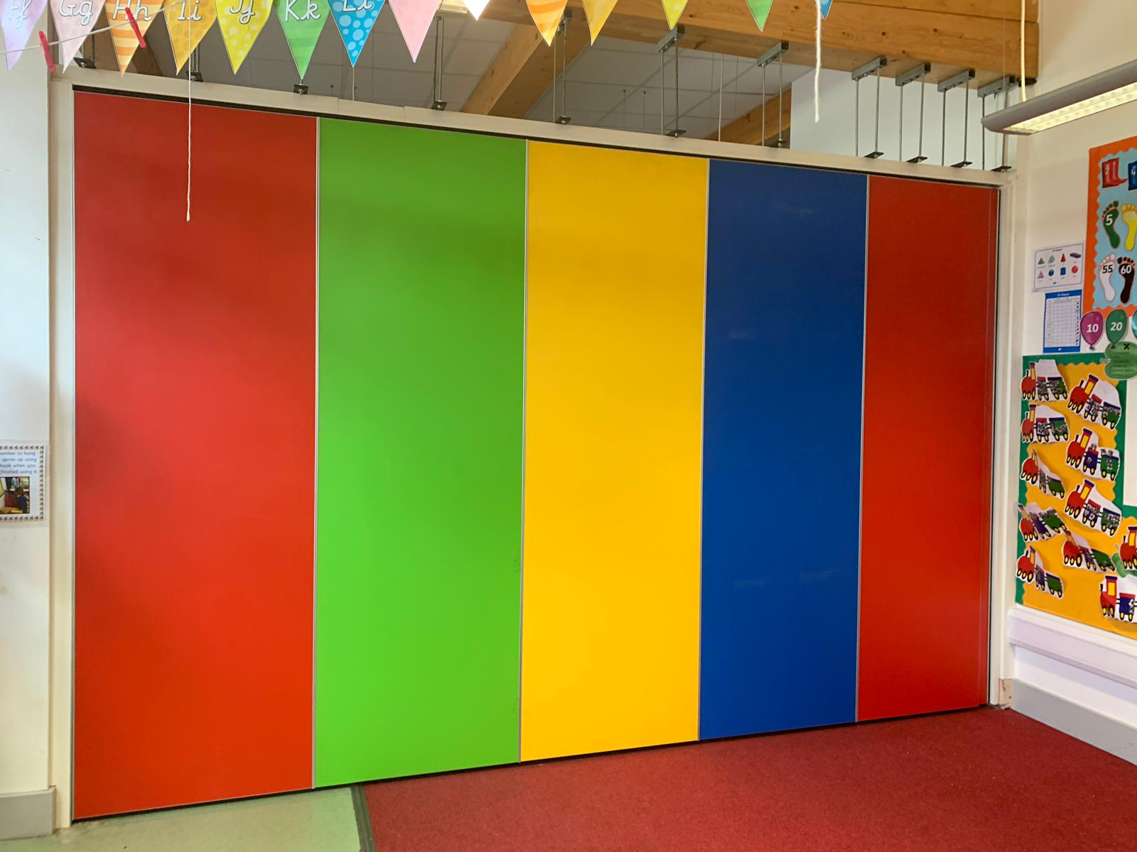 A rainbow partition for a vibrant school