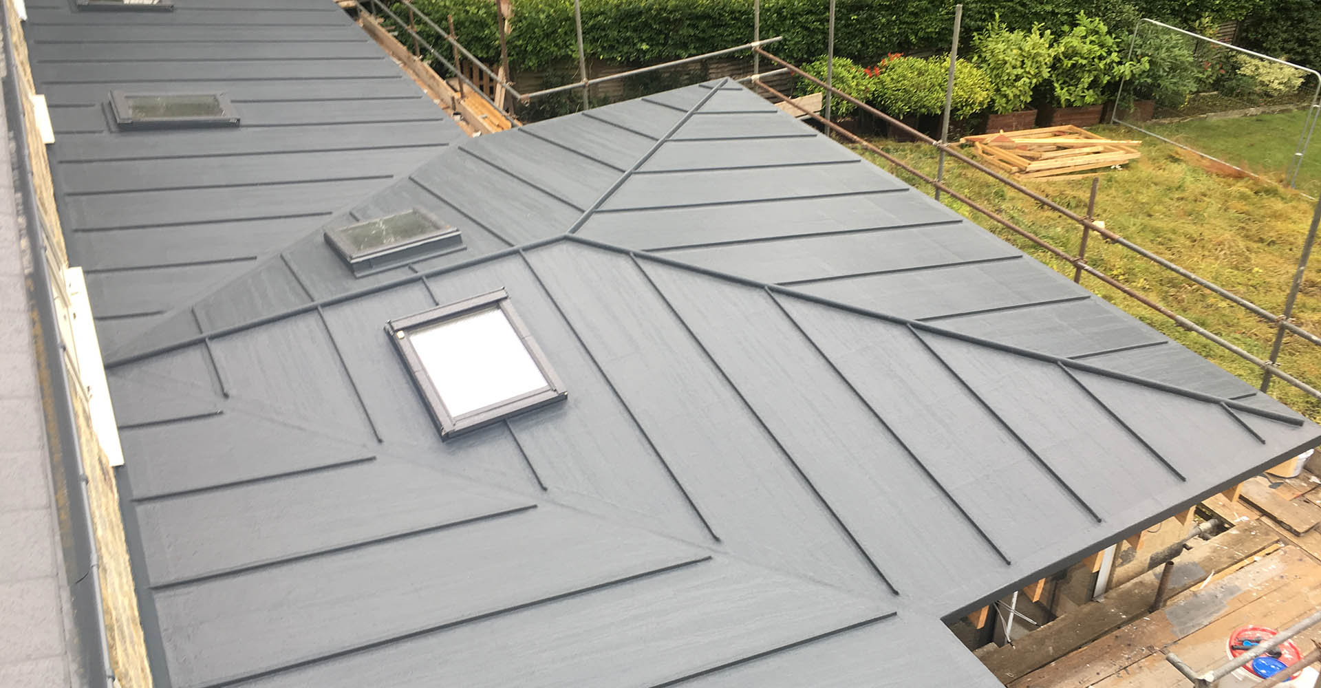 Polyroof delivers a zinc effect roof for Harrogate home