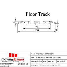 Kudos Head & Floor Tracks tech sheet