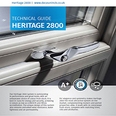 Traditional 2800 Casement Window Techical data