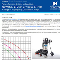 Clean Water Pumps Technical Data
