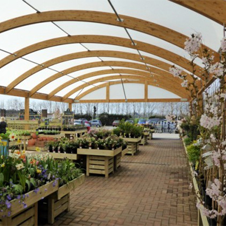 Sustainable Timber Canopy For Hillier Garden Centre