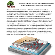 Wood Floor and Underfloor Heating Guide