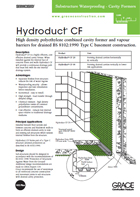 Hydroduct Cf Grace Construction Products
