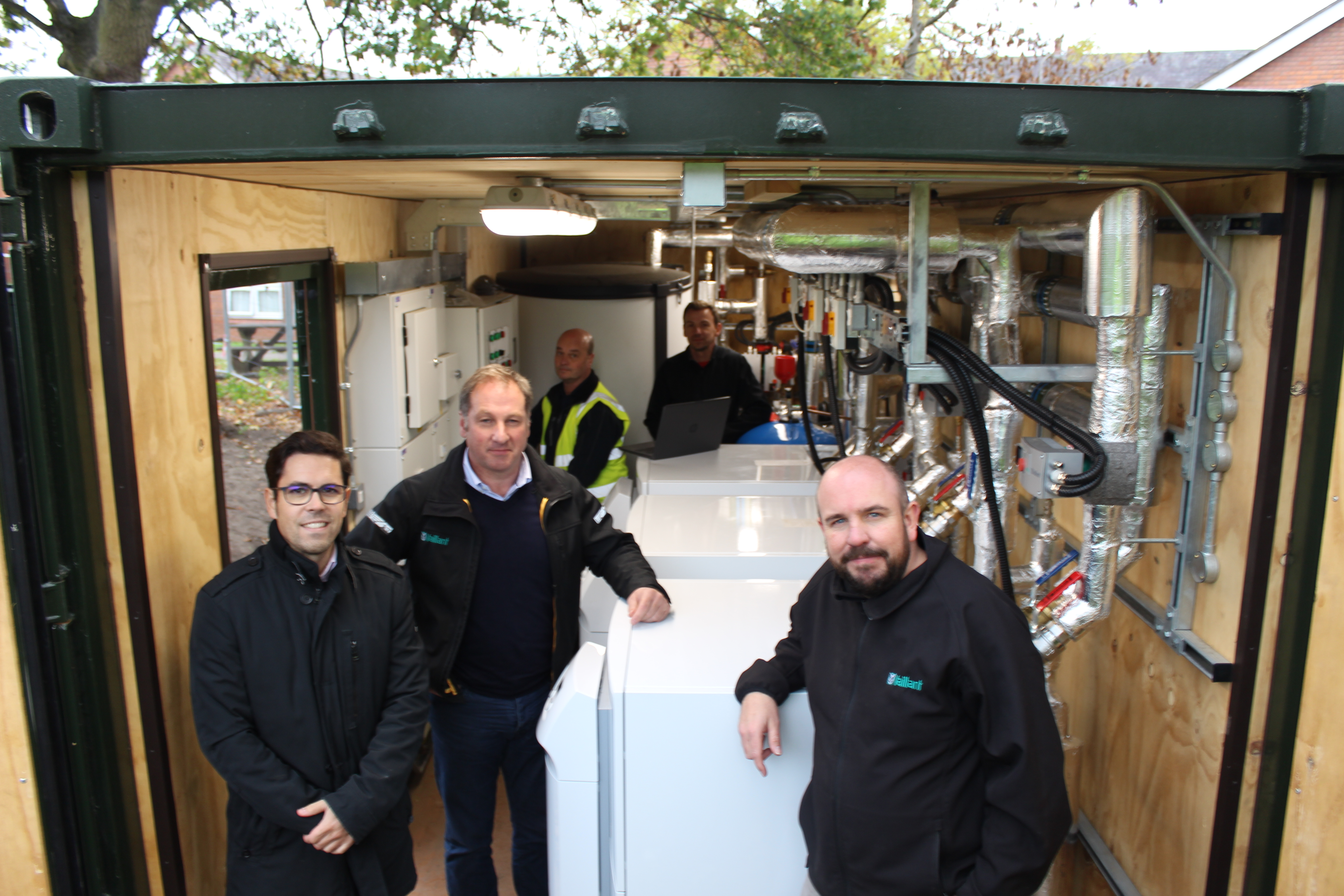 Vaillant shipping container project reduces tenant bills by 50%
