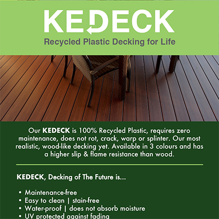 KEDECK recycled plastic decking