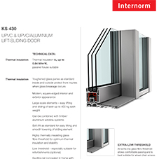 KS430 Lift-Sliding Door