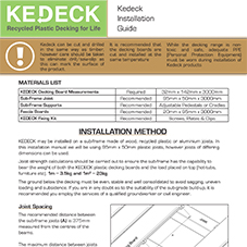 KeDeck Install Guide