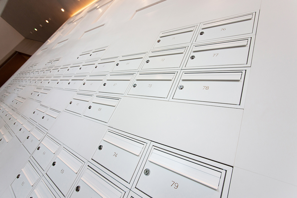 Mailboxes at high-end residential development