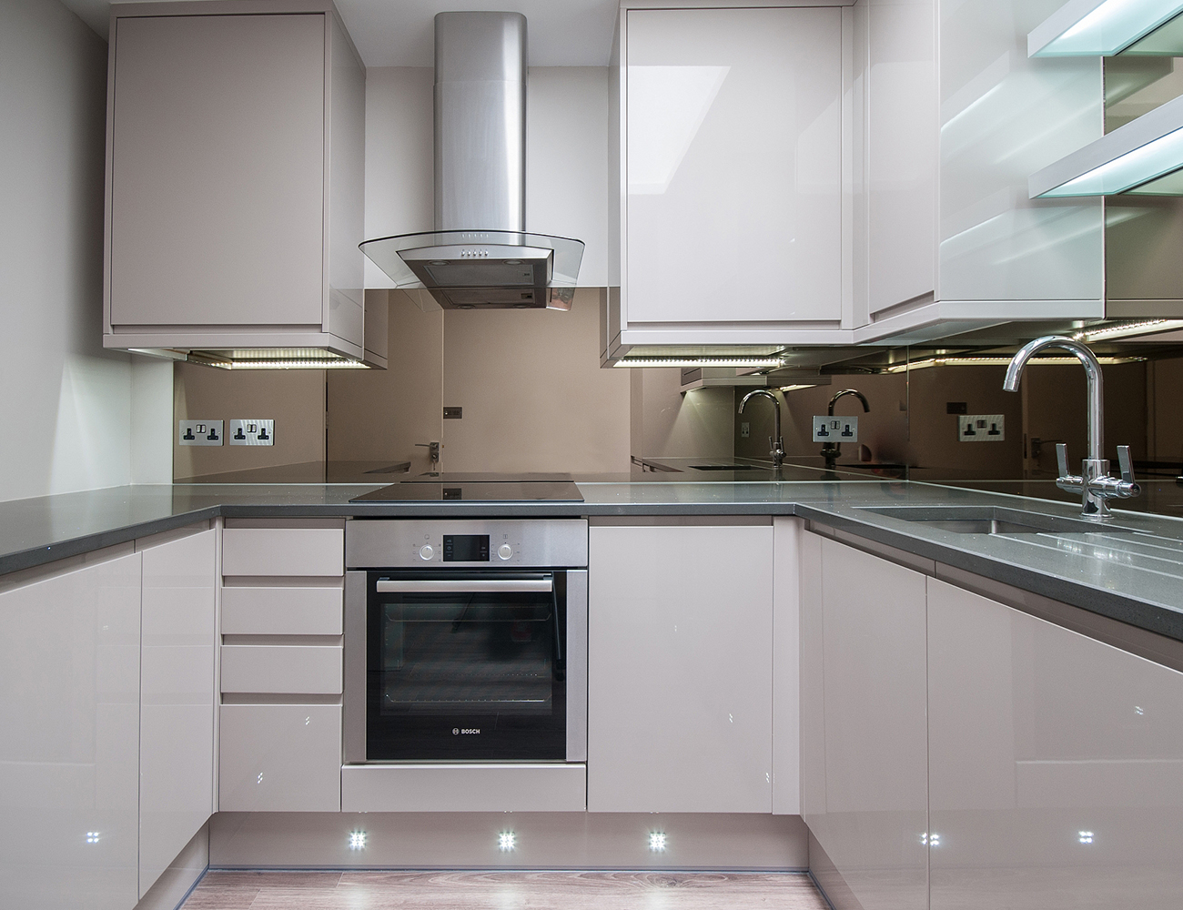 Kitchen Fit-Out (Worktops, Upstands, Floors & Walls)