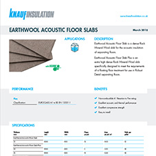 Knauf Insulation Earthwool® Acoustic Floor Slab