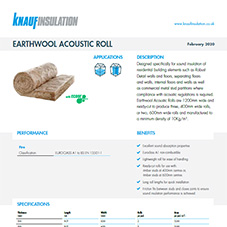 Knauf Insulation Earthwool® Acoustic Roll