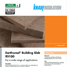Knauf Insulation Earthwool® Building Slab RS100