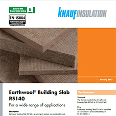 Knauf Insulation Earthwool® Building Slab RS140
