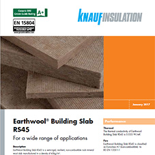 Knauf Insulation Earthwool® Building Slab RS45
