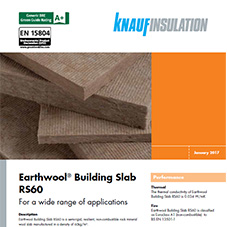 Knauf Insulation Earthwool® Building Slab RS60
