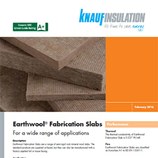 Knauf Insulation Earthwool® Fabrication Slab