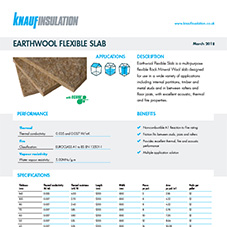 Knauf Insulation Earthwool® Flexible Slab