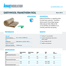 Knauf Insulation Earthwool® FrameTherm Roll