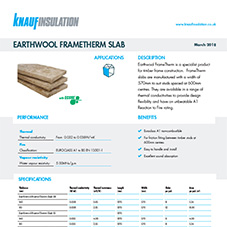 Knauf Insulation Earthwool® FrameTherm Slab