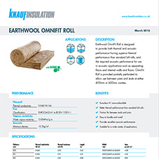 Knauf Insulation Earthwool® Omnifit Roll