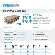 Knauf Insulation Earthwool® Omnifit Slab