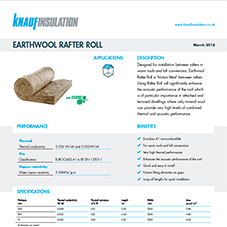 Knauf Insulation Earthwool® Rafter Roll