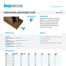 Knauf Insulation Earthwool® Rainscreen Slab