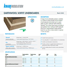 Knauf Insulation Earthwool® Soffit Linerboard