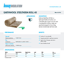 Knauf Insulation Earthwool® SteelTherm Roll
