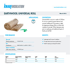 Knauf Insulation Earthwool® Universal Roll