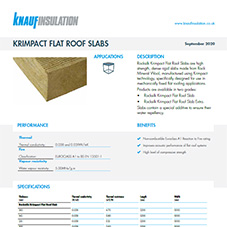 Knauf Insulation RockSilk® Krimpact Flat Roof Slab