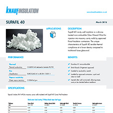 Knauf Insulation Supafil® 40