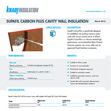 Knauf Insulation Supafil® CarbonPlus