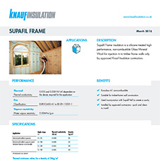 Knauf Insulation Supafil® Frame