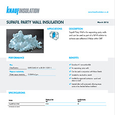 Knauf Insulation Supafil® Party Wall